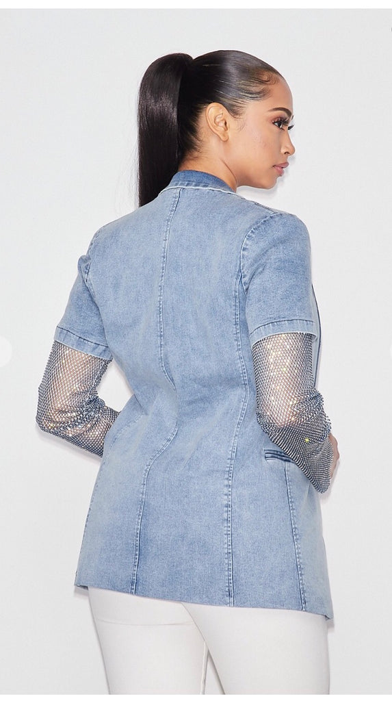 Jean jacket blink sleeves