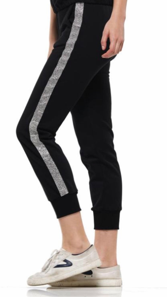 Black and rhinestone jogging set