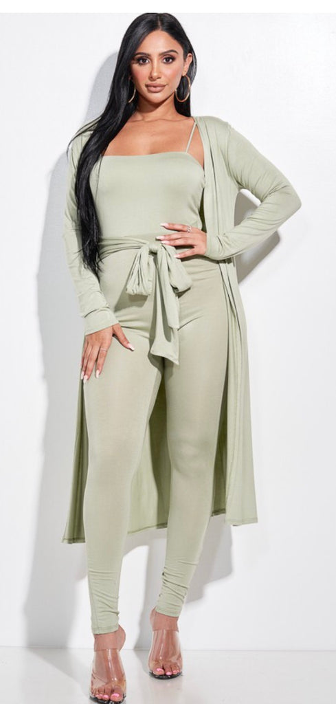 Jumpsuit with duster
