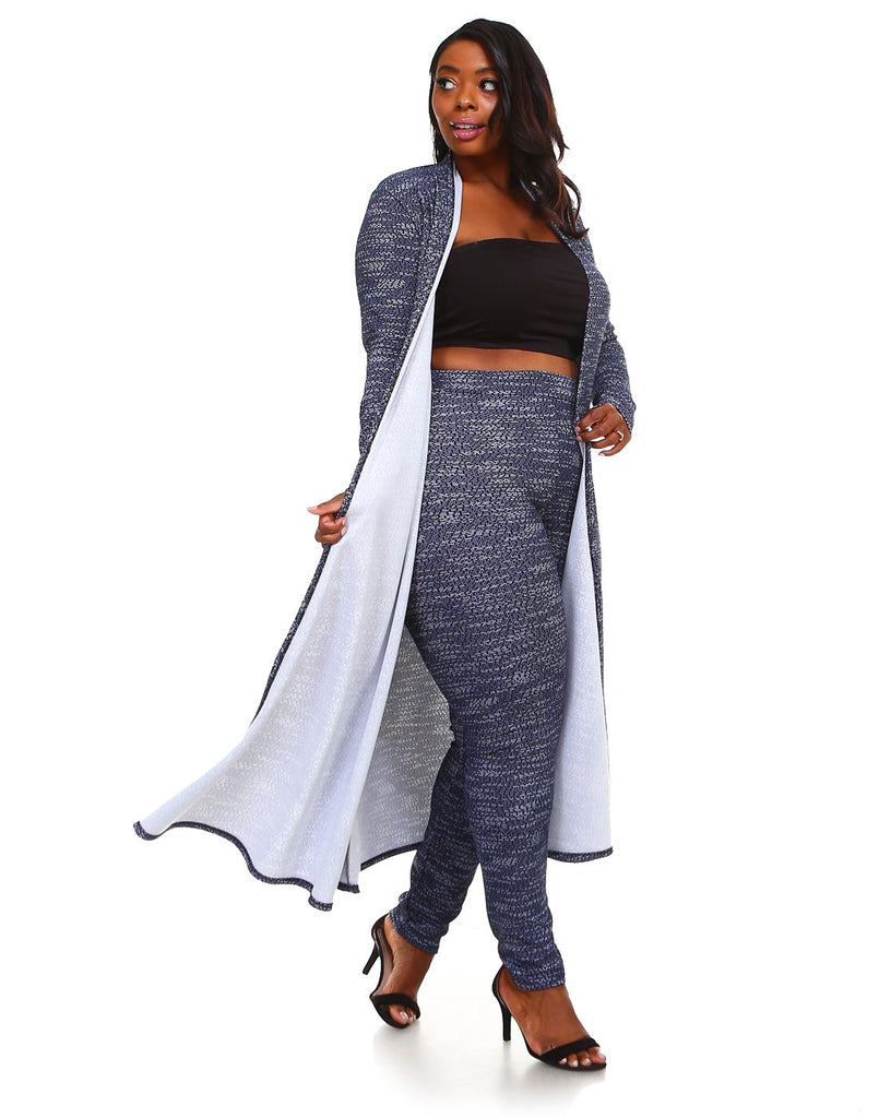 Duster blue set