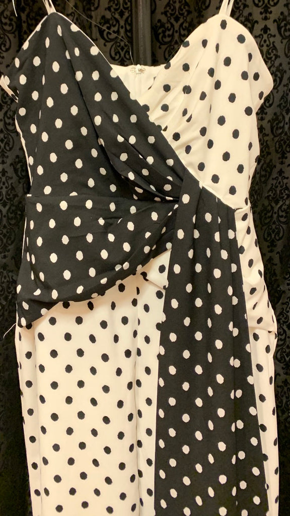 Black and white polkadot jumpsuit