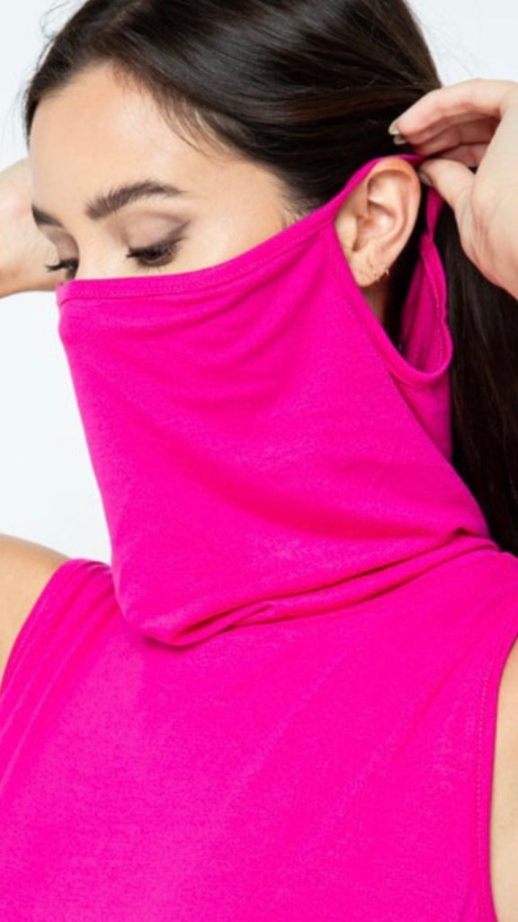 Pink mask top