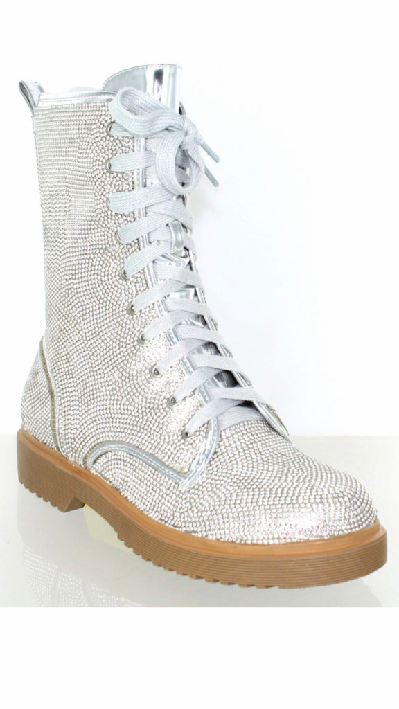 Silver Stone Boots
