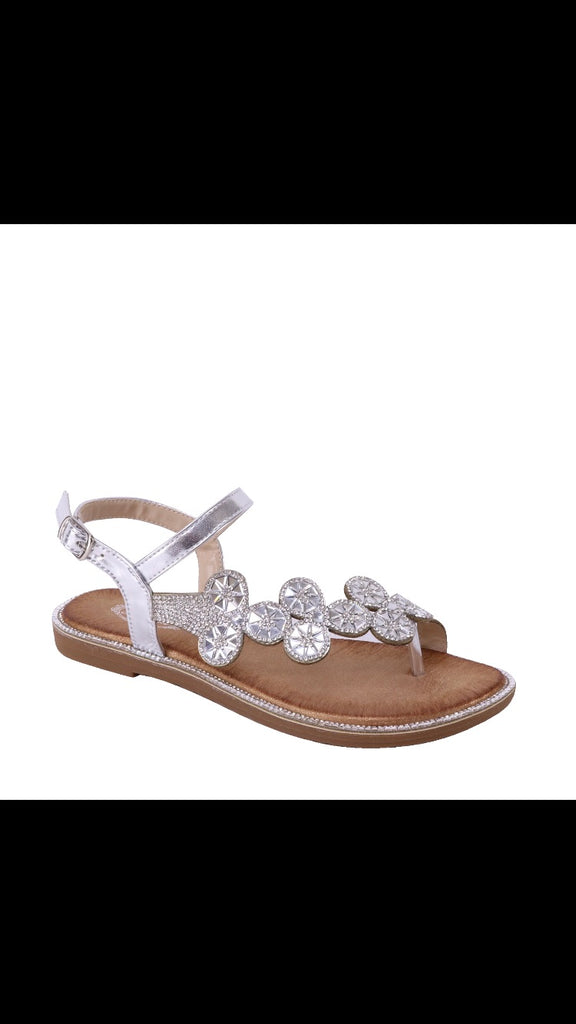 Circle bling sandals