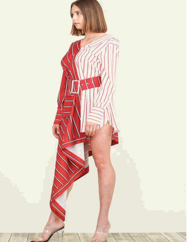 Red and white stripe Dress/Top