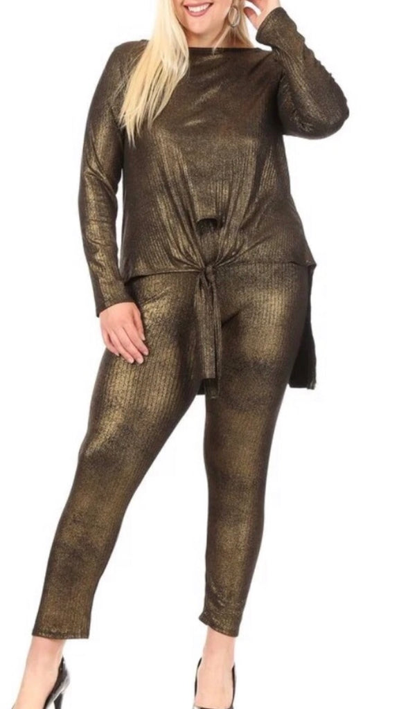 Gold Pants Set