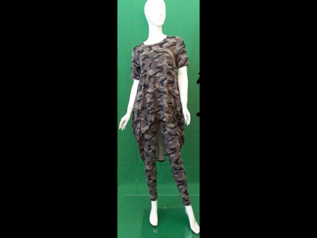 Camouflage Leggings Set