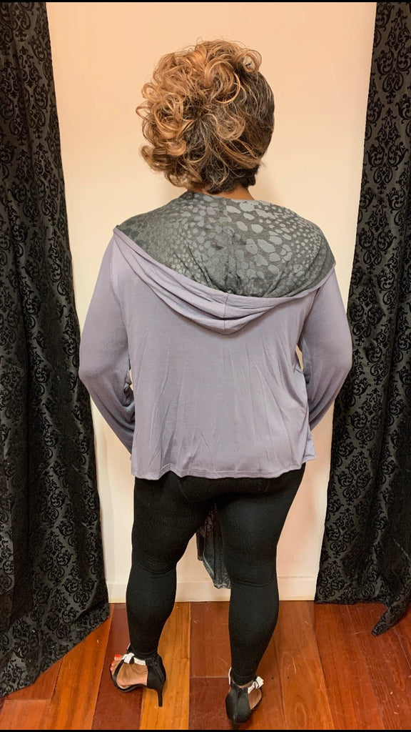 Gray High Low Duster