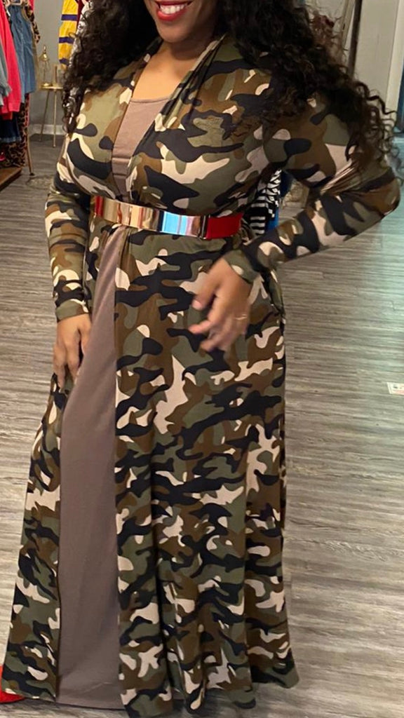 Camouflage duster