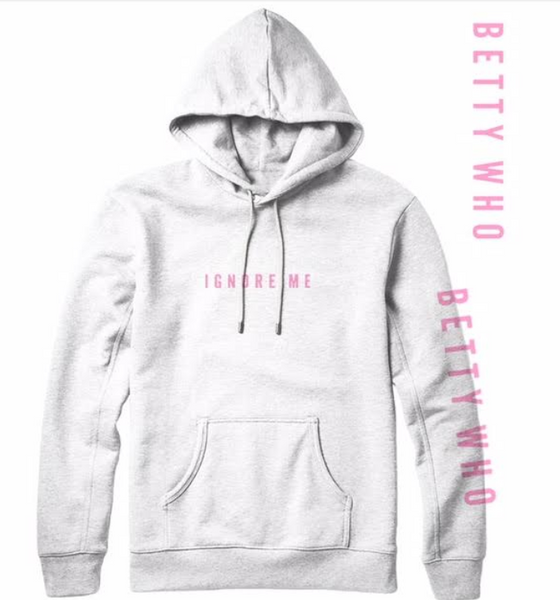 Ignore Me White with Pink Hoodie