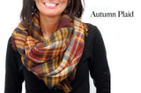 Infinity Plaid  Scarf Autumn