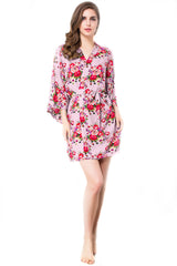 Endless Envy Floral Robe Bridesmaids Pink