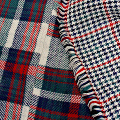 Plaid Check Reversible Poncho  at Endless Envy