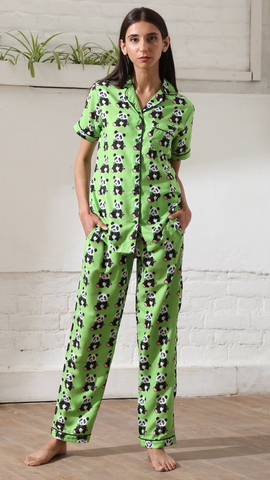 Neon Green Panda Nightwear (Women)