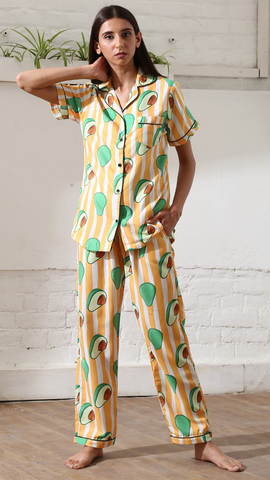 Stripes Avocado Nightwear (Women)