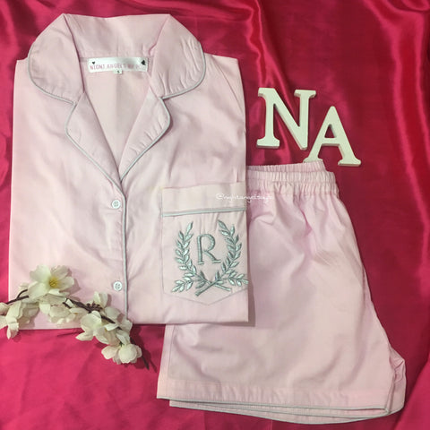Personalised Fern Initial Nightwear