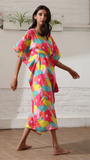 Round Abstract | The Zoey Collection | Cotton Printed Kaftan
