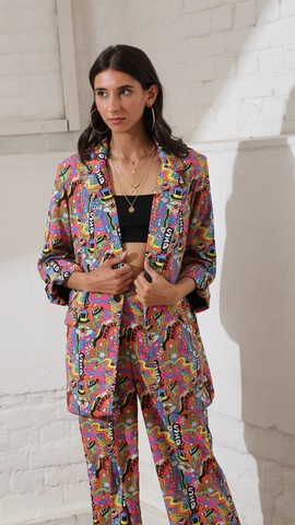 Trippy Land Blazer and Pant Co-Ord Set (Women)