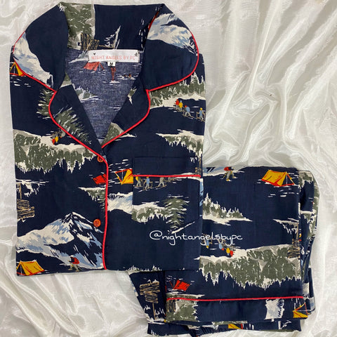 Snow Mountain Flannel Nightwear (Women)