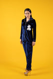 Unicorn Miracle Navy Blue Velvet Nightwear (Women)