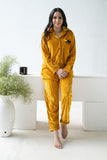 Golden Bow Velvet Nightwear (Women)