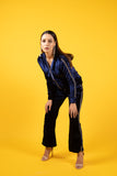 Bling Affair Blue Velvet Tracksuit