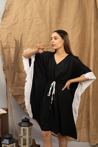 Beach Vibe | Black | The Zoey Collection | Classic Kaftan