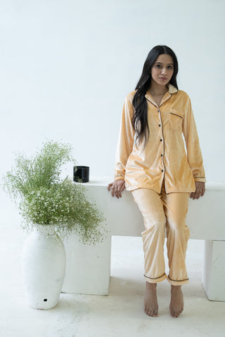 Light Gold Velvet Nightwear (Women)