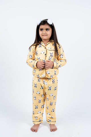 Yellow Panda Kids Unisex Nightwear