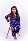 Blue Netflix & Chill Kids Unisex Nightwear