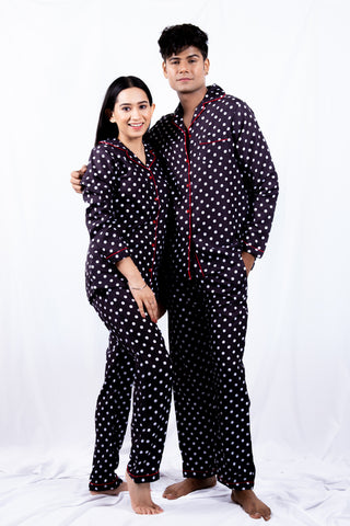 Polka Dots Couple Nightwear