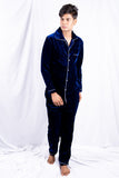 Blue Classic Velvet Nightwear (Men)