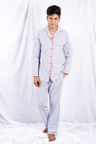 B&W Stripes Nightwear (Men)