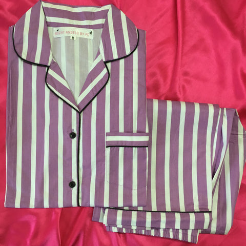 Purple Stripes Nightwear