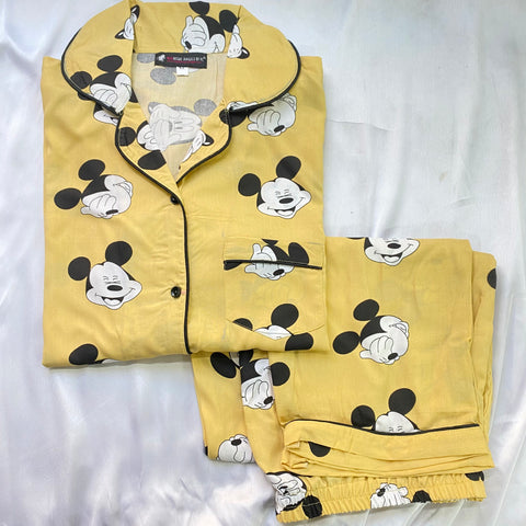 Shy Mickey Half Sleeves Nightwear (Women) | S,L,2XL AVAILABLE