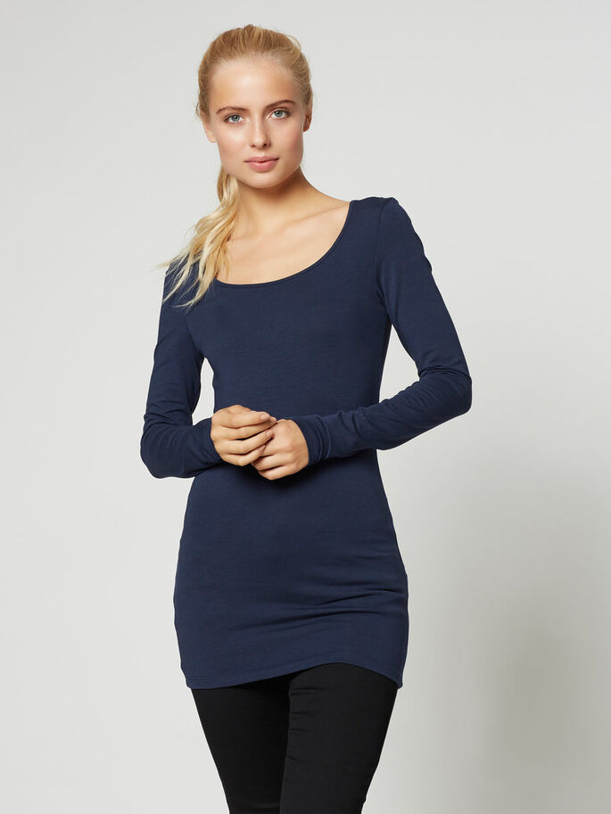 Vero Moda U Neck Top - Navy