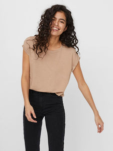 Vero Moda Aware T Shirt - Stone