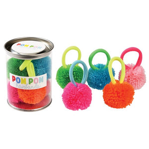 Pom Pom Hairbands Pot (set of 5)