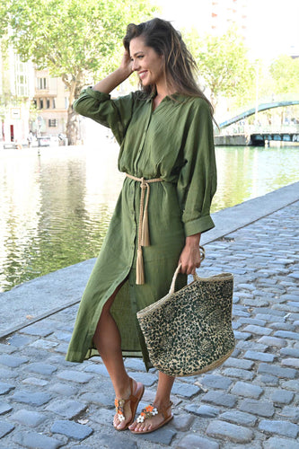 Chico Soleil Hadrienne Dress - Khaki