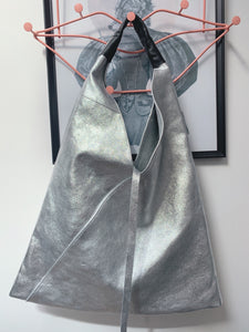 Boho Leather Bag - Silver
