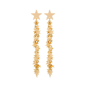 Star & Drop Star Chain Earrings