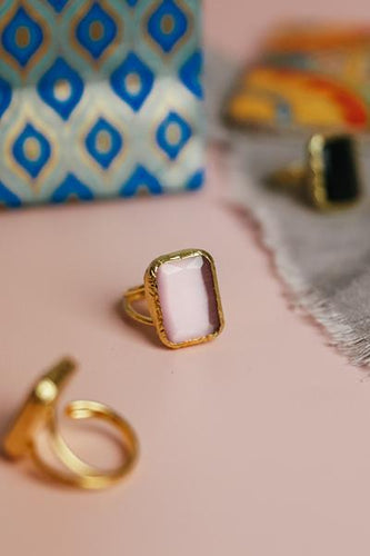Rose Square Cocktail Ring