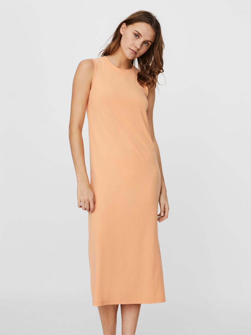 Vero Moda Rib Dress - Peach