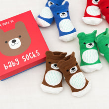 Load image into Gallery viewer, Bear Design Baby Socks