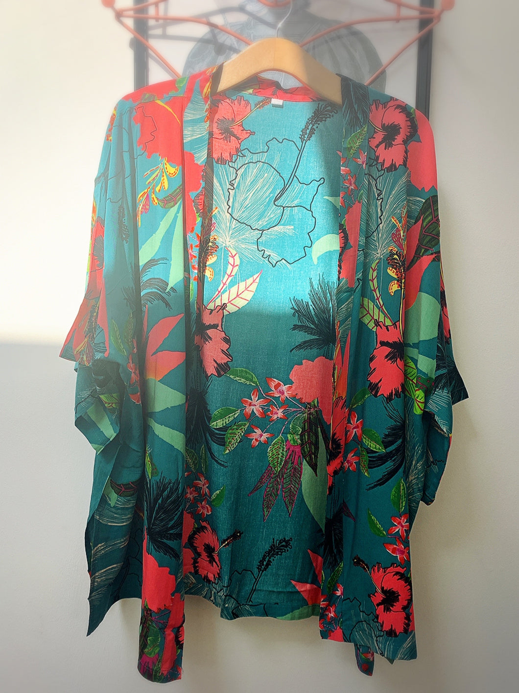 Betsy Open Shirt - Hawaii Floral