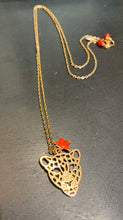 Load image into Gallery viewer, Leopard Necklace Orange Star