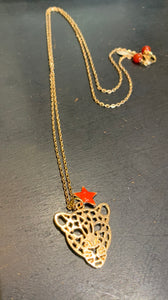 Leopard Necklace Orange Star