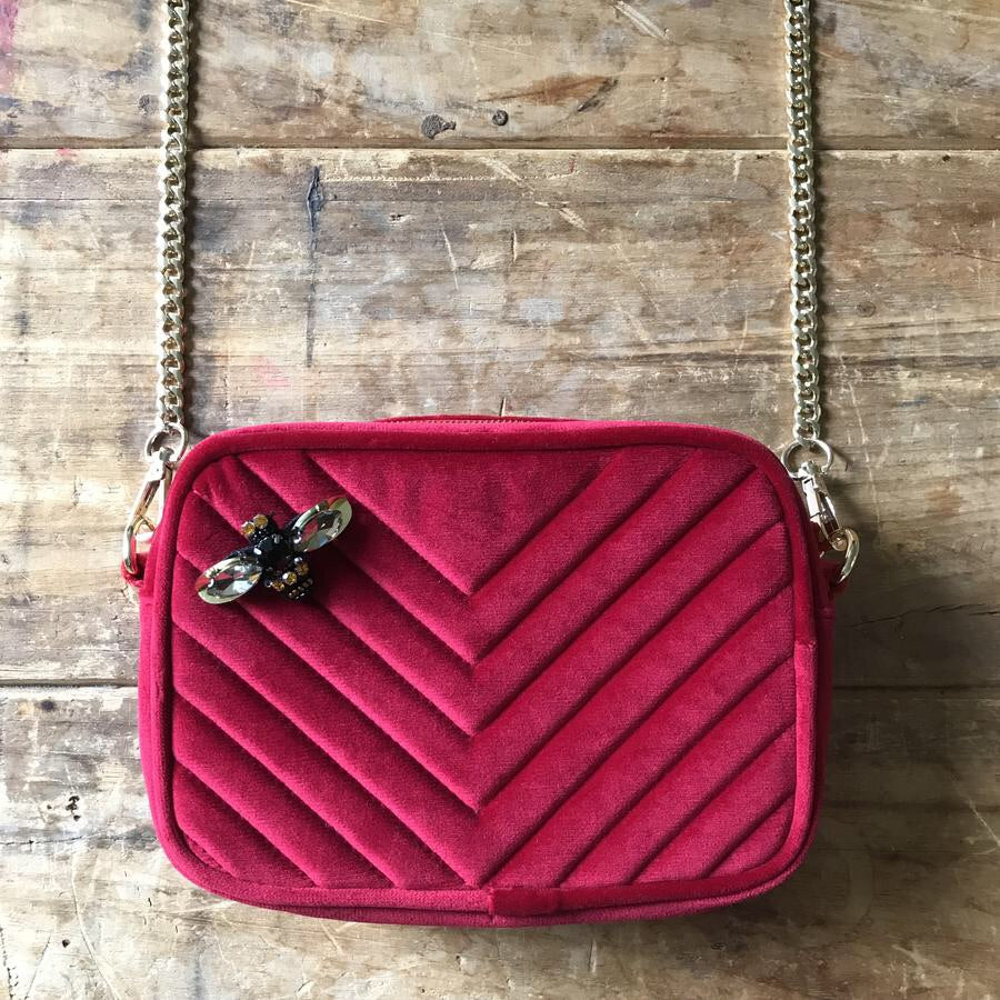 Sixton London Soho bag. Berry Red
