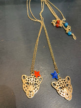 Load image into Gallery viewer, Leopard Necklace Blue Star