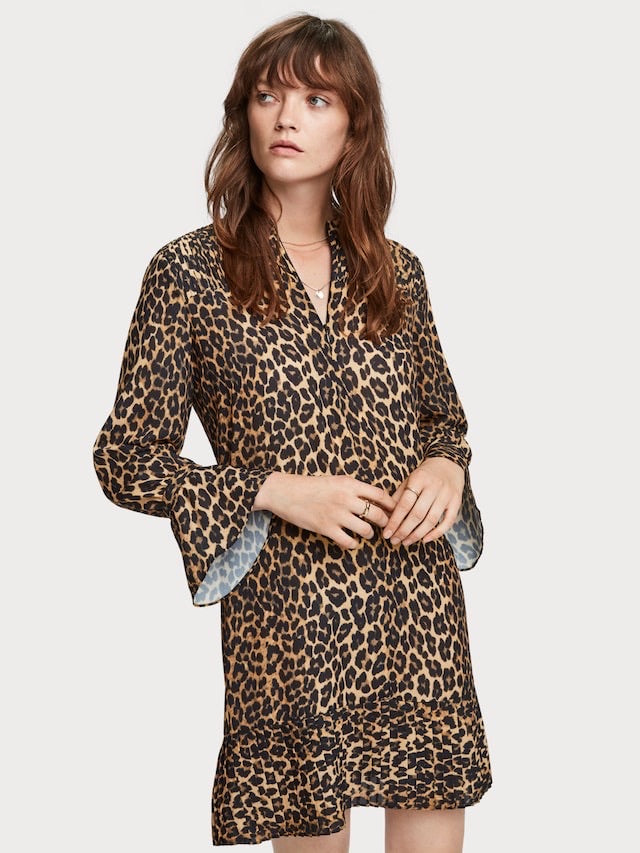Maison Scotch Leopard Dress